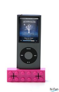 speaker per ipod e iphone rosa hi- brick