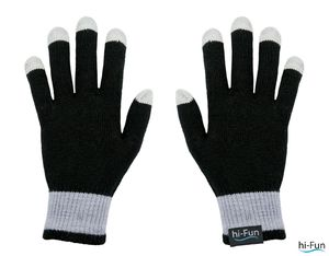 guanto touchscreen donna nero hi-glove