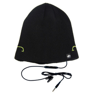 cappellino con speakers e microfono nero hi-head