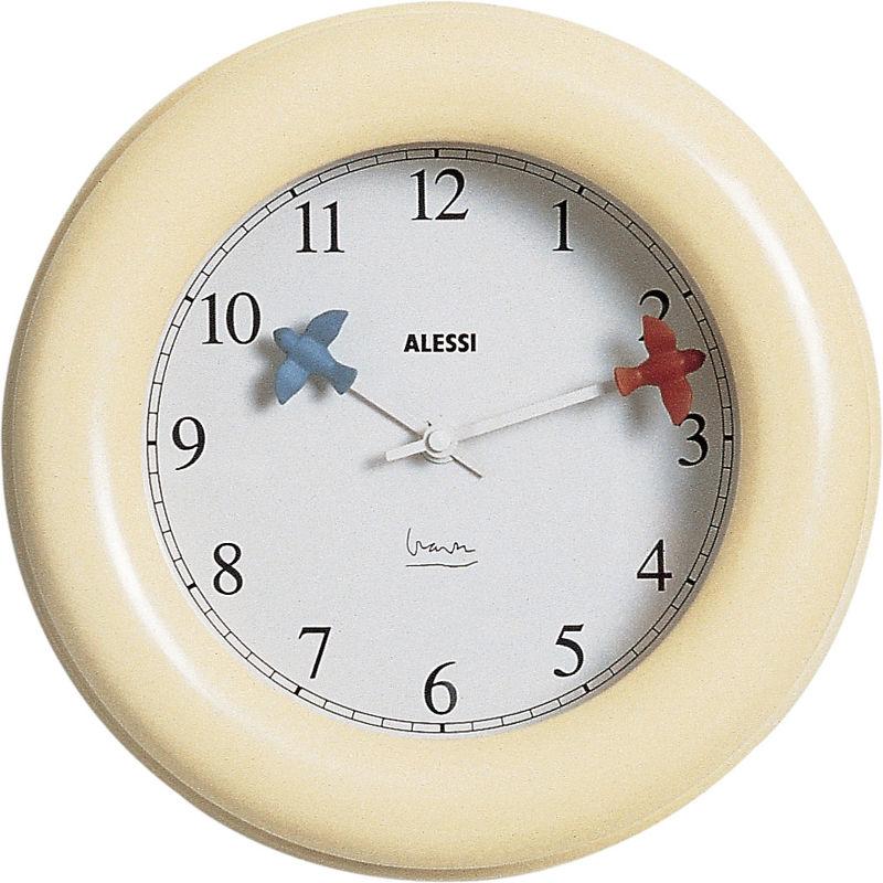 orologio da parete crema kitchen clock - Alessi | Orologi da parete ...